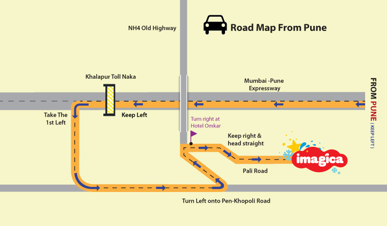 Directions to Pune