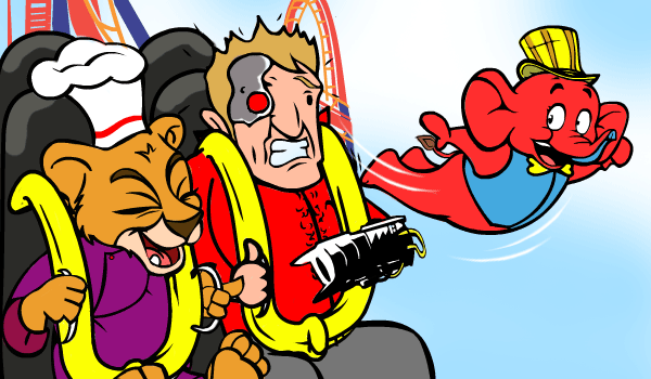 Tubbby-flys to see Mogambo Expression on Nitro Roller Coaster