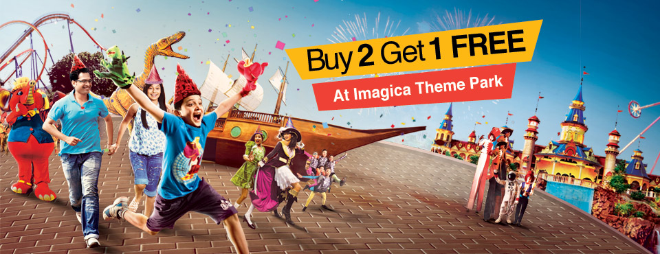 Buy 2 Get 1 Free on Imagica Theme Park Ticket