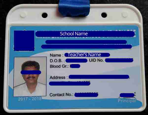 Sample Teacher's ID